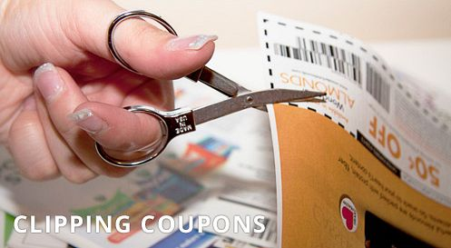 Scissors for clipping coupons